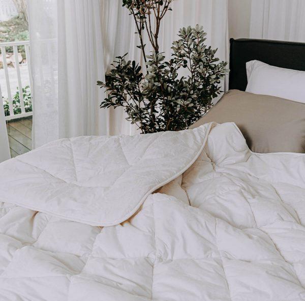 Australian quilt on bed