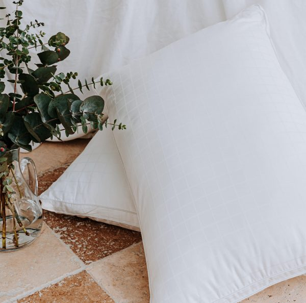 microfibre pillows on bed